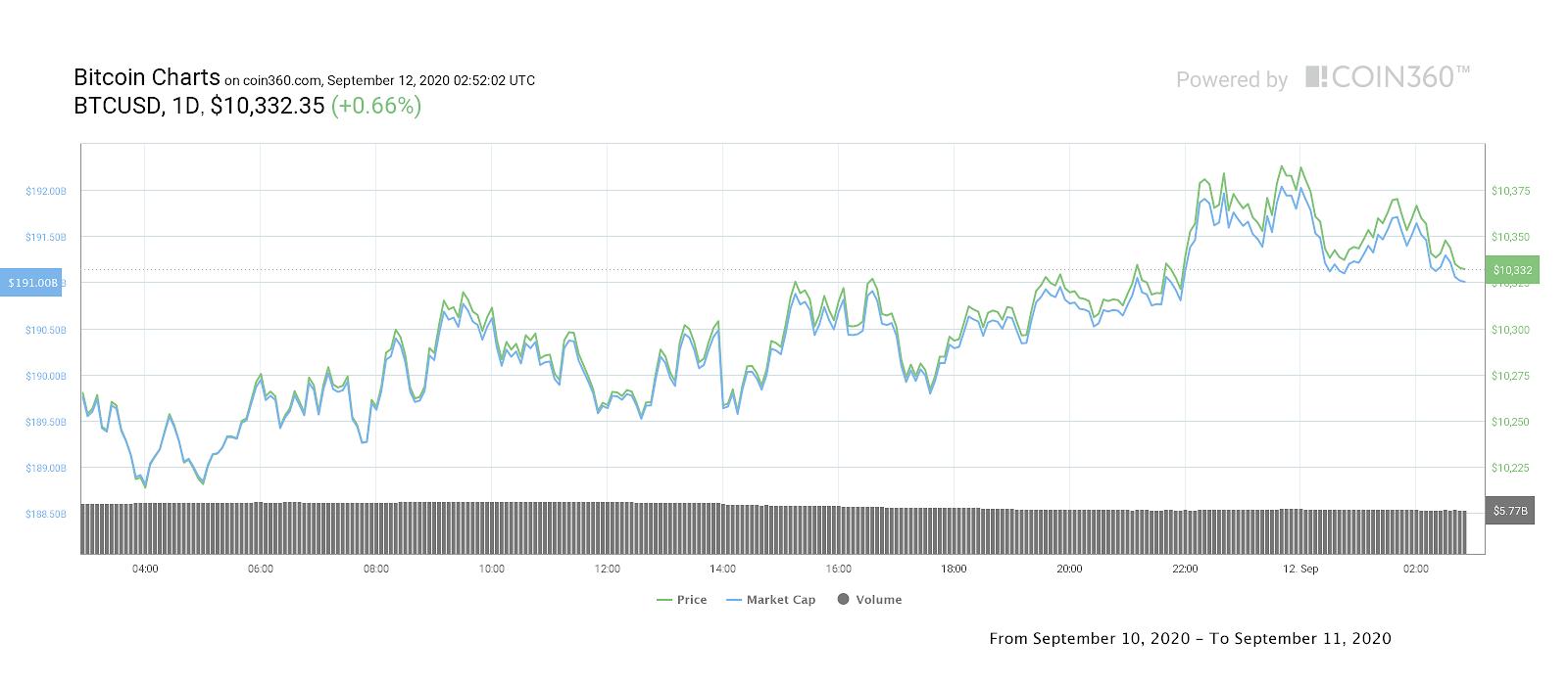 Bitcoin price daily performance