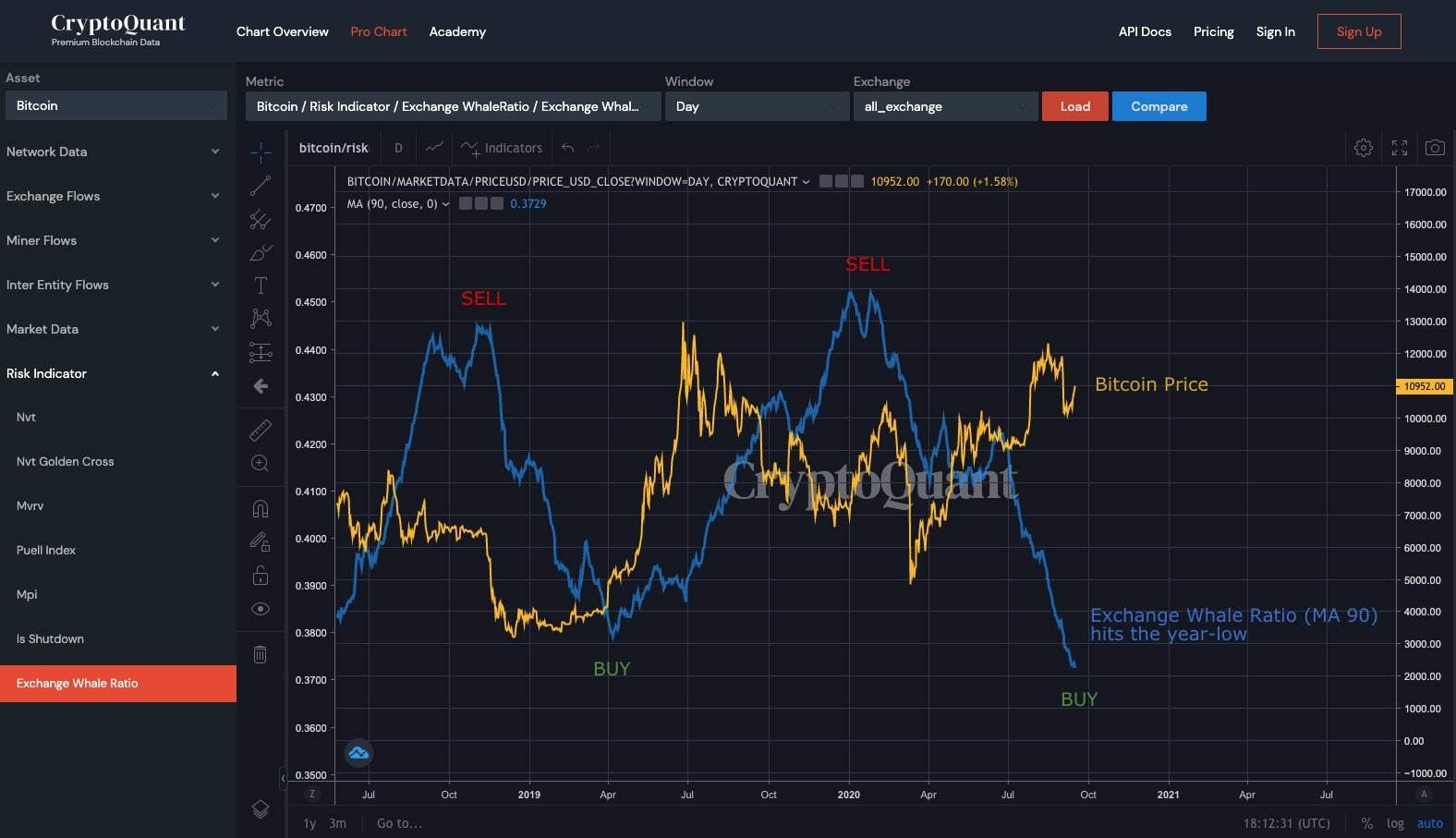 Bitcoin whale activity on exchanges. Source: CryptoQuant